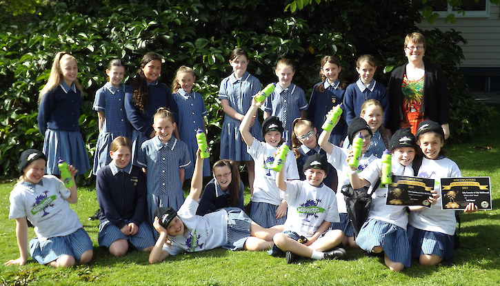 Weedbusters Film Challenge 2015 entrants and winners from St Johns Girls School, Invercargill